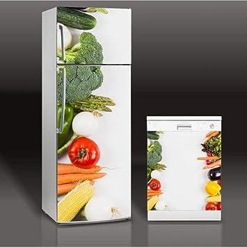 3D Frutas y Verduras Lavavajillas Refrigerador Congelar Etiqueta ...