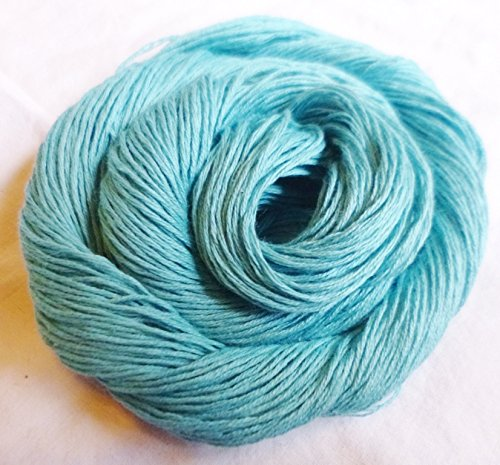 FOUR PACK Aqua Ice Blue Green 4-ply Cotton Crochet Knitting Fingering weight Yarn