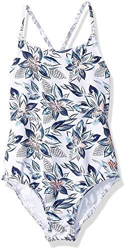 Roxy Little Girls' Magic Seeker One Piece Swimsuit, Bright White Flower Spirit Southwest, 4 ()