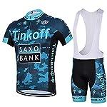 51iUH2VA5zL. SS150 LHZTZKA Abbigliamento da Ciclismo per Uomo Set, Traspirante Quick Dry Maglia Manica Corta da Ciclista + Cuscino 3D…