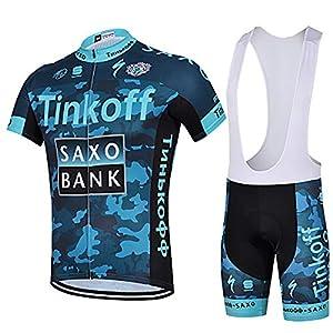 51iUH2VA5zL. SS300 LHZTZKA Abbigliamento da Ciclismo per Uomo Set, Traspirante Quick Dry Maglia Manica Corta da Ciclista + Cuscino 3D…
