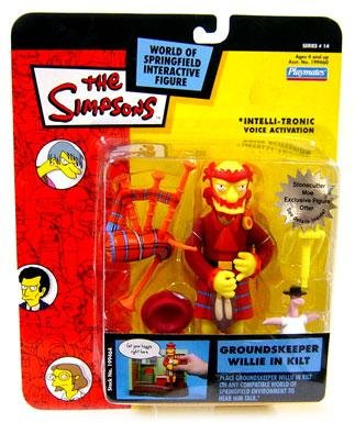The Simpsons Series 14 Playmates Action Figure Groundskeeper Willie in Kilt]()