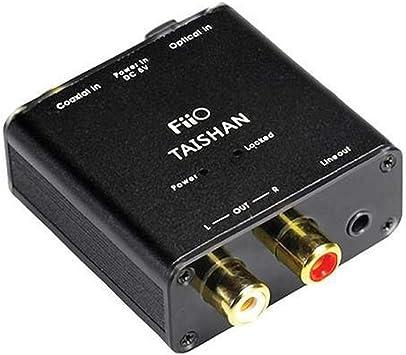 FiiO D03K - Conversor digital-analógico (Coaxial óptico a R/L), negro: Amazon.es: Electrónica