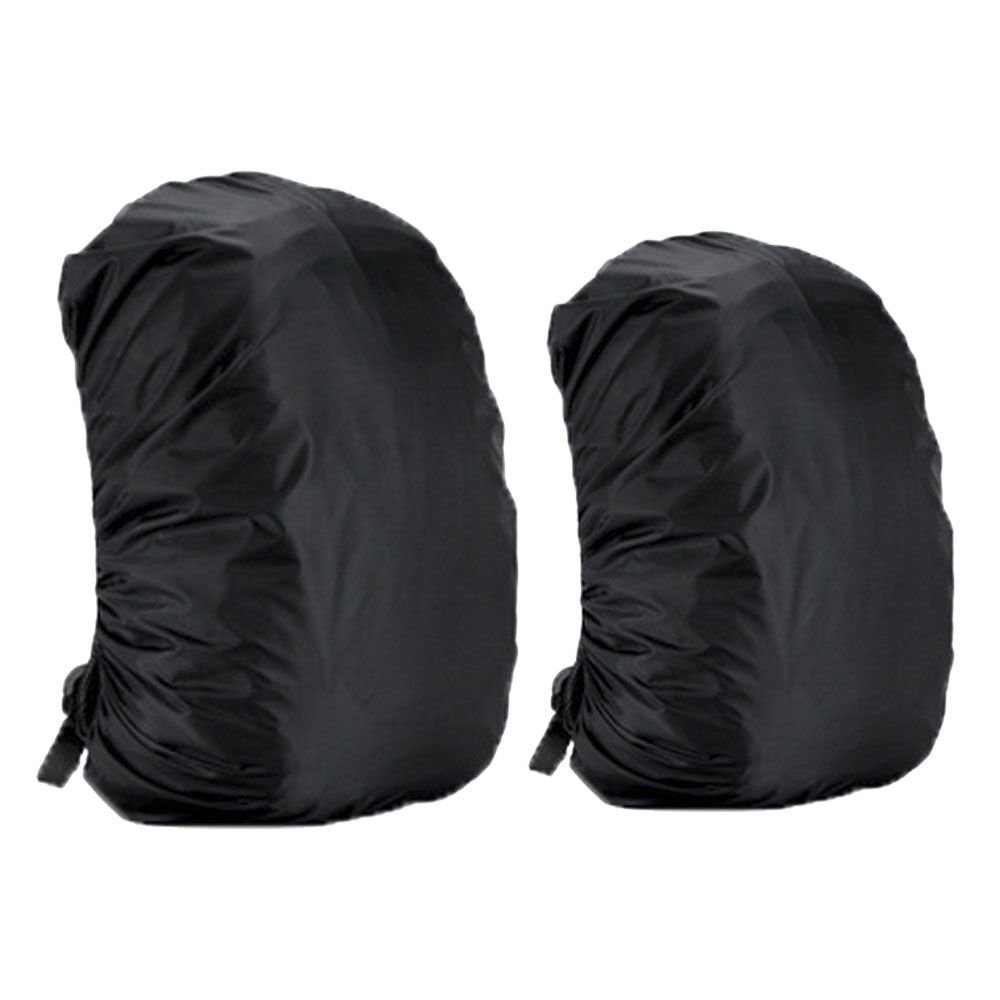 Ewolee 2 Pieces Backpack Rain Cover, Pack Cover, Backpack Waterproof Cover, Bag Covers Set for Hiking, Camping, Climbing, Cycling(35Liter and 45Liter, Black)