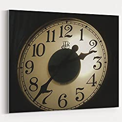 Westlake Art - Clock Wall - 16x20 Canvas Print Wall Art - Canvas Stretched Gallery Wrap Modern Picture Photography Artwork - Ready to Hang 16x20 Inch (D41D8)