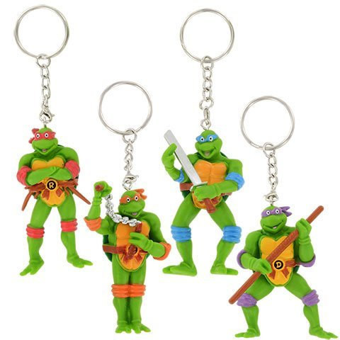 Kids Spring Summer Fun Backyard Outdoor Playtime Teenage Mutant Ninja Turtle SET OF 4 TMNT Keychains