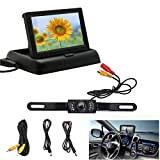 West Port Backup Camera and Monitor Kit Foldable 4.3 Inch Color LCD TFT Rearview Monitor screen for Car Backup...