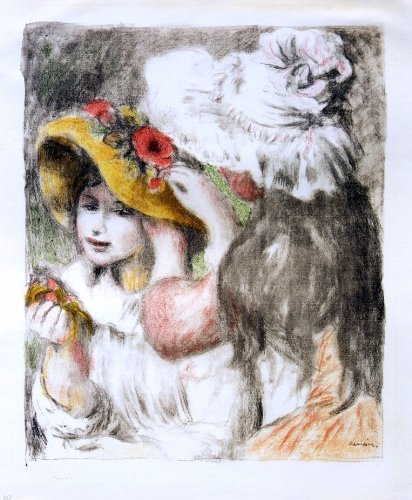 """Pierre Auguste Renoir The Hatpin - 20.1"""" x 25.1"""" Peel & Stick Removable Wall Decal"""