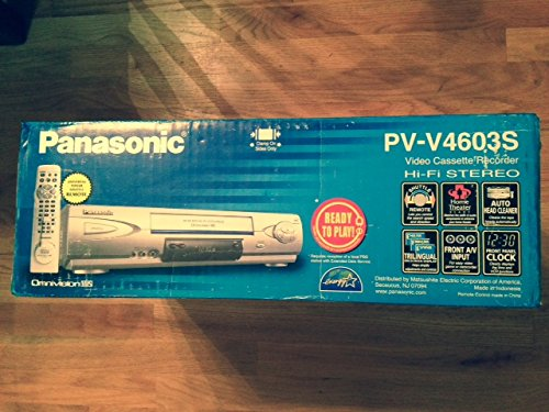 Sale!! Panasonic PV-V4603S HiFi Stereo VHS VCR with Omnivision
