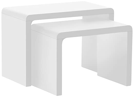 "5 opinioni per AC Design Furniture 36158- Tavolino doppio ""Lucas"", ca. 59 x 41 x 30 cm, lucido,"