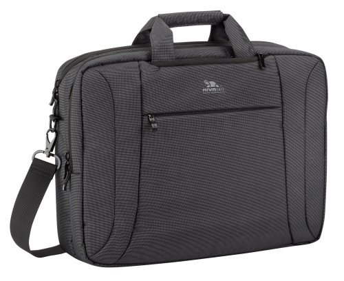 Rivacase 16 inch Convertible Laptop Bag/Backpack for Dell/Inspiron/Acer - Black