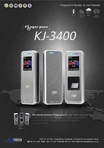 Slim Color Screen Fingerprint Reader Security System by KJ Tech