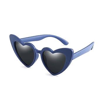 CCGSDJ Gafas De Sol De Niña Bebé para Niños Corazón Negro ...