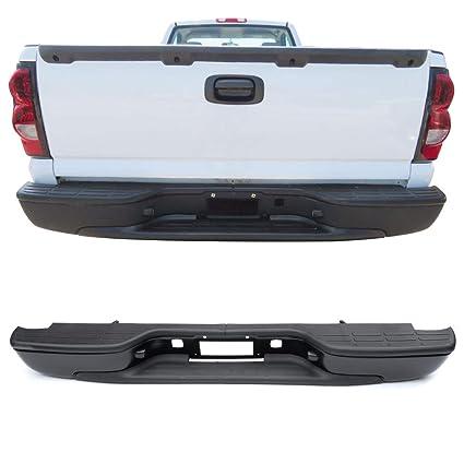 Rear Step Bumper Fits 99 06 Chevy Silverado Gmc Sierra Ss Stainless Steel Black Bumper Pads Retainer By Ikon Motorsports
