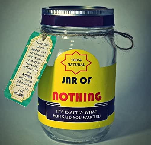 Best gag gift jar of nothing white for Gift for man who wants nothing