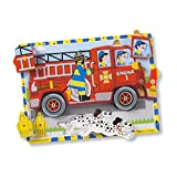 Melissa & Doug 3721 Fire Truck Wooden Chunky Puzzle (18 Pcs)