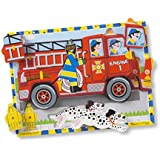 Melissa & Doug Fire Truck Wooden Chunky Puzzle (18 pcs)