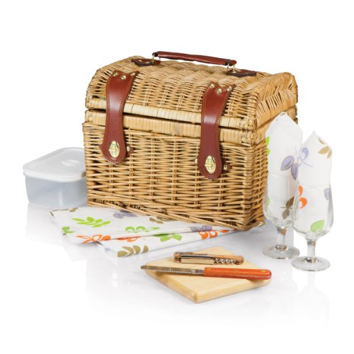 Picnic Time 'Napa' Picnic Basket with Wine and Cheese Service for Two, Botanica Collection
