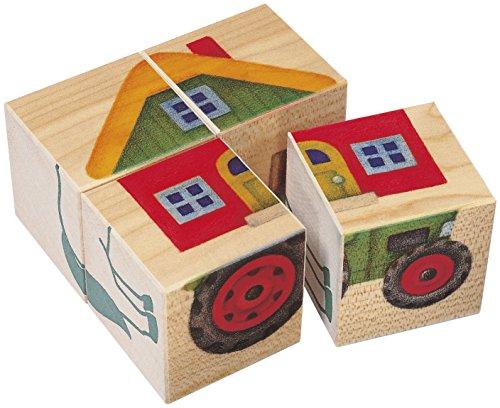 (Selecta 62052Picture Cubes Farm (4Pieces))