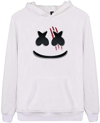 5862092486ba EMILYLE Homme Sweat-Shirt DJ Marshmello Pull Polaire à Manches Longues Fans  EDM Ado