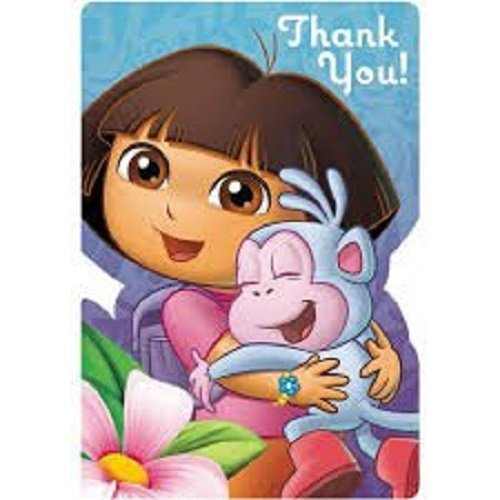 Dora the Explorer Flower Adventure Invitations and Thank you -