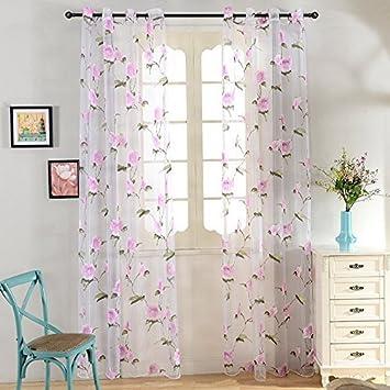 Top Finel Blume Fenster Vorhang Senschal Kinderzimmer Gardinen Wohnzimmer Panels Mit Oesen Gardinenschal 1 Stueck