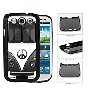 Hippy Mini Van with Peace Sign in Center Series Hard Snap on Cell Phone Case Cover Samsung Galaxy S3 I9300 (gray)