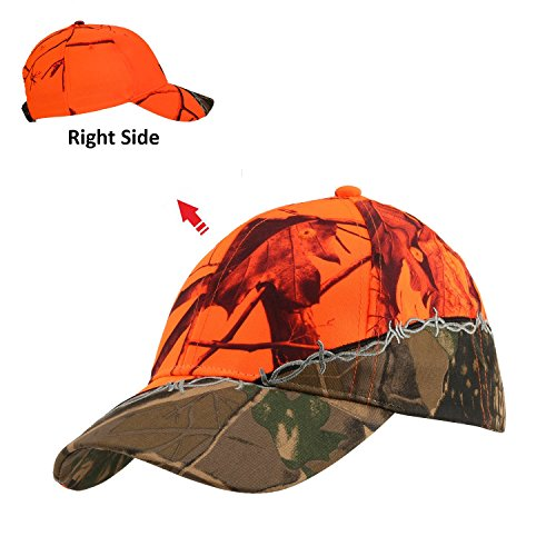 Orange Camo Cap - GearOZ Camo Blaze Orange Hunting Hat