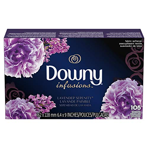 Downy Infusions Lavender Serenity Fabric Softener Dryer Sheets, 105 count