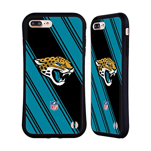 Official NFL Stripes 2017/18 Jacksonville Jaguars Hybrid Case for Apple iPhone 7 Plus / 8 (Jacksonville Jaguars Football Case)