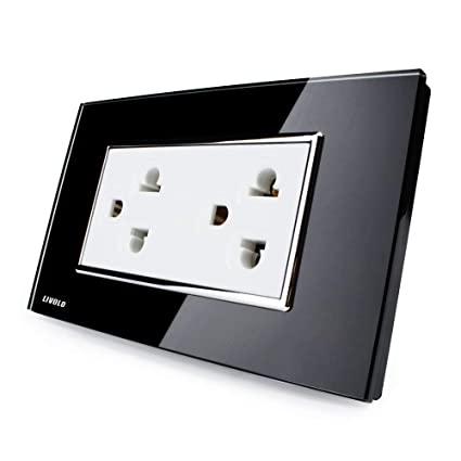 Livolo Black Receptacle Standard Duplex Electrical Wall Outlet 15a