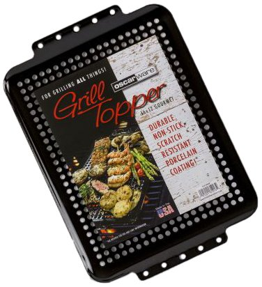 Oscarware 61213HGP-B Gourmet Porcelain Coated Grill Topper, 16 by 12-Inch by Oscarware
