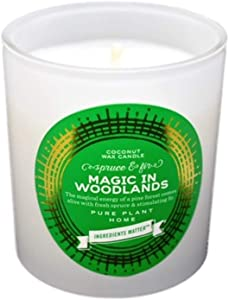 PURE PLANT HOME 8 oz Pine Candle~  The Magical Energy of a Crisp, Pine Forest on a Clear Day Comes Alive with Fresh Spruce and stimulating fir. Our Vegan Coconut Wax Candle is Hand Poured in USA