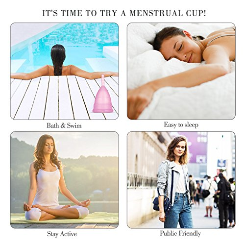 Economic Silicone Menstrual Cup Size with and of Ecological Gift Medical Bag of Degree and Box Small Hypoallergenic YtFArtq