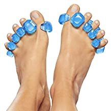 YogaToes Gems - Gel Toe Stretcher & Separator: Instant Therapeutic Relief For Feet. Fight Bunions, Hammer Toes & More!