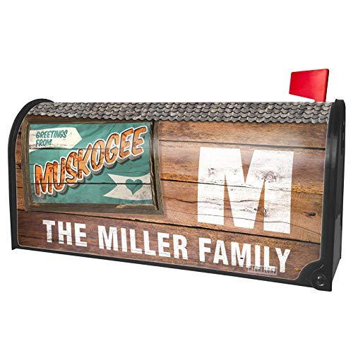 (NEONBLOND Custom Mailbox Cover Greetings from Muskogee, Vintage)