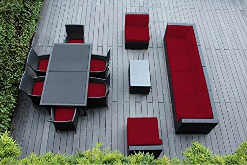 Ohana Collection 14-Piece Sectional Sofa Furniture Set with Patio Cover, Sunbrella -