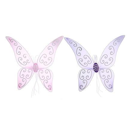 0e18d4c4f0c0 Amazon.com  Homyl Pack of 2 Girls  Glitter Butterfly Fairy Wing ...
