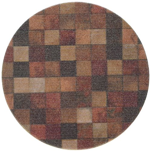 Thirstystone 'Contemporary Mosaic' Sandstone Drink Coaster Set with a Walnut Holder Included ()