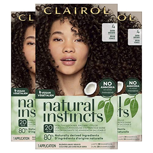 Clairol Natural Instincts Semi-Permanent, 4 Dark