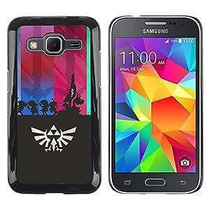// PHONE CASE GIFT // Duro Estuche protector PC Cáscara Plástico Carcasa Funda Hard Protective Case for Samsung Galaxy Core Prime / Leyenda de Zeldo /