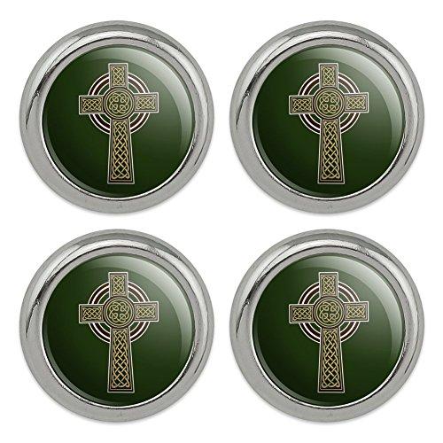 Celtic Christian Cross Irish Ireland Metal Craft Sewing Novelty Buttons - Set of 4