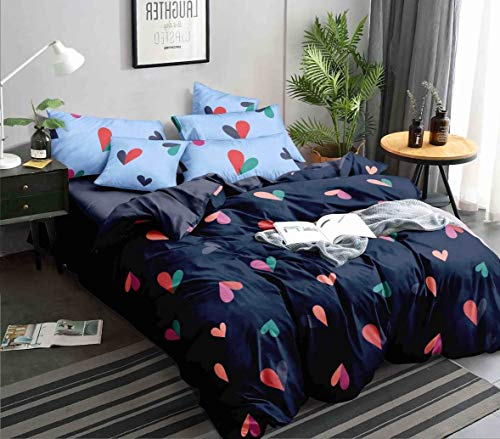Ab Home Decor 350TC Microfiber Glace Cotton AC Comforter Set King Size Double Bed with 1 Flat bedsheet-90×100 inch and…