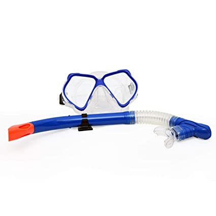 45bc6c5a05e4 Buy CBEX Whale Professional Anti-Fog Color Mirror Silicone Snorkeling  Diving Mask and Snorkel Set for Underwater Sports Diving Swimming Online at  Low Prices ...