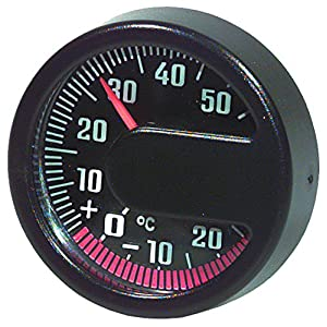 HR 10110001 Self-Adhesive Automobile Interior/Exterior Thermometer - CELSIUS ONLY - No Fahrenheit Read - Made in Germany