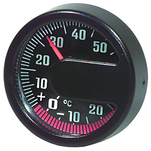 HR 10110001 Self-Adhesive Automobile Interior/Exterior Thermometer - Celsius ONLY - No Fahrenheit Read - Made in Germany HR Richter