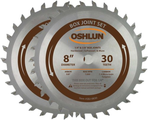 Oshlun SBJ-0830 8-Inch Box and Finger Joint Set by Oshlun