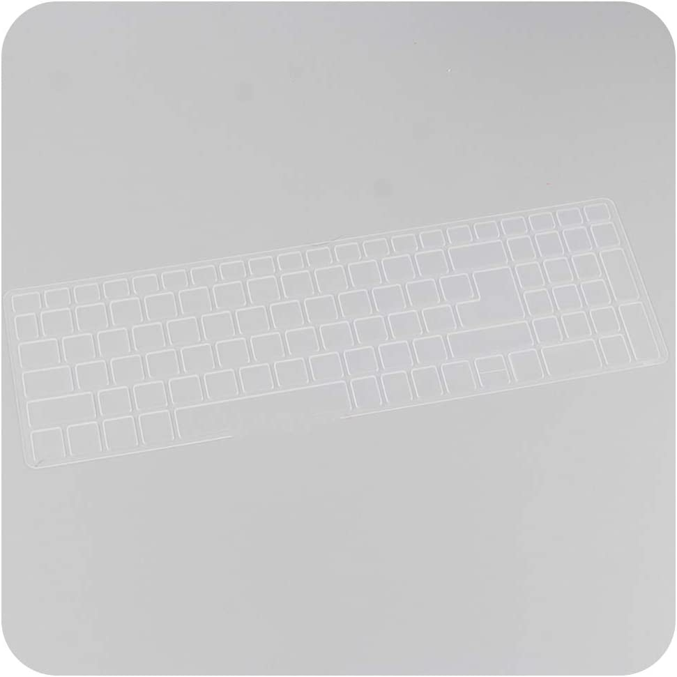 Silicone Keyboard Protective Film Cover Skin Protector Compatible for Acer Aspire E5 573G E15 F5 572G E5 552G T5000,Clear