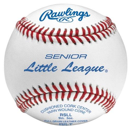Rawlings Raised Seam Tournament Grade Senior Little League Baseballs, 12 Count, RSLL ()