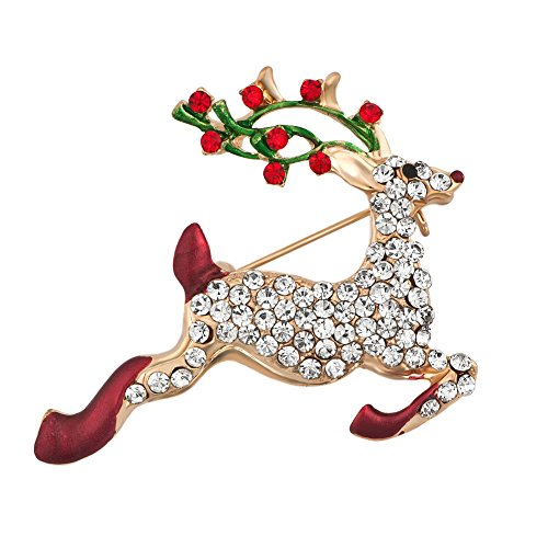 new Q&Locket Christmas Brooch Pins Snowflake Jingle Bell Snowman Candy Cane Reindeer Socking Brooches for sale